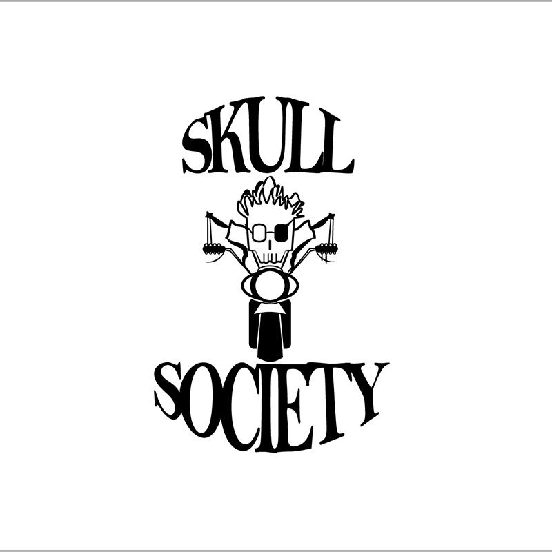 angiolo manfriani, creative designer, shapetheline, Logo Motorcycle Skull